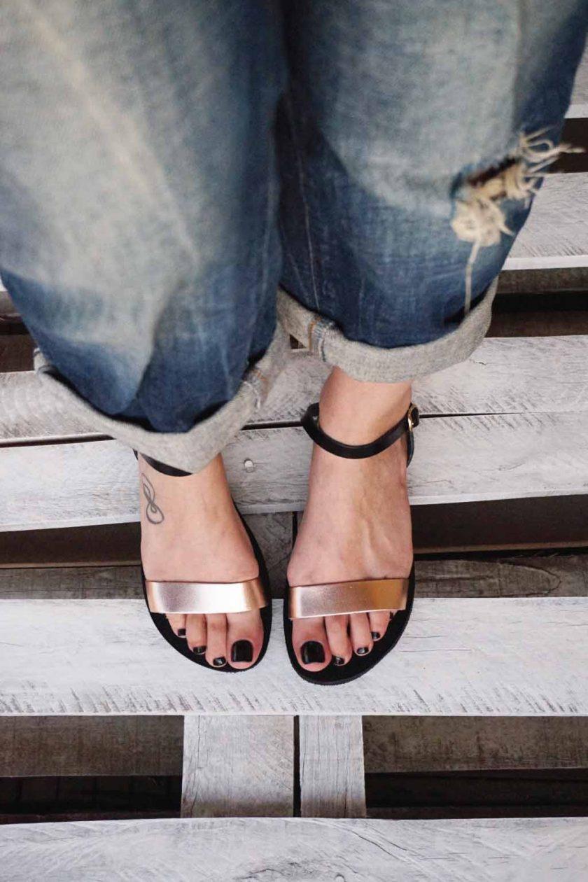 Płaskie sandały FUNKY CASUAL, brąz