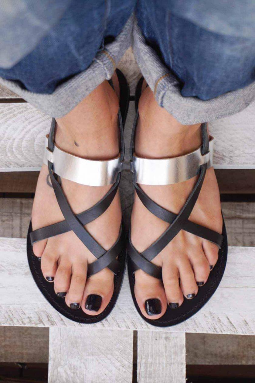 Greckie sandały FUNKY PEOPLE, czarne