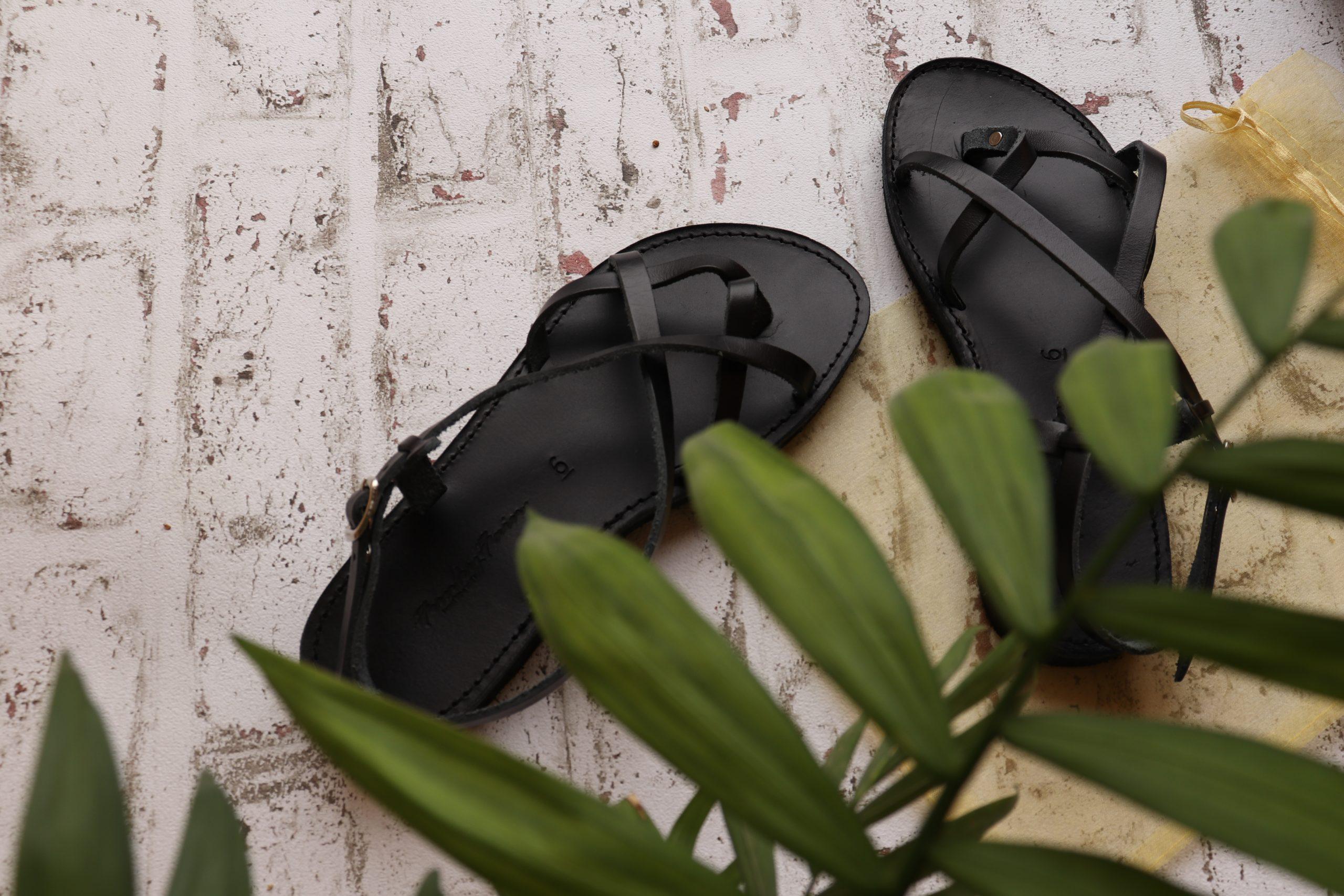 Sandale damă piele naturală FUNKY FEELING, negru