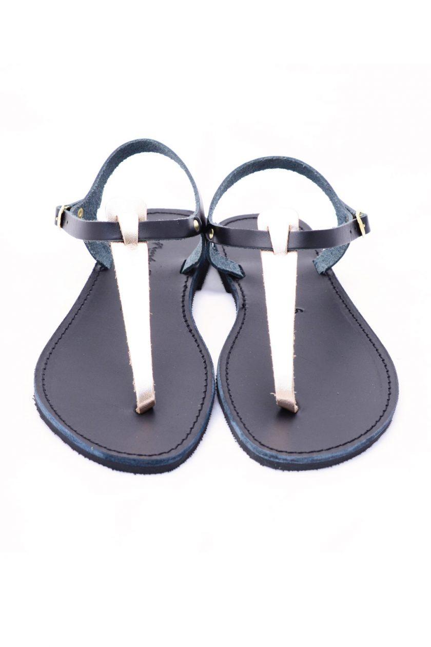 Płaskie sandały ze skóry naturalnej FUNKY ALLNUDE, brąz