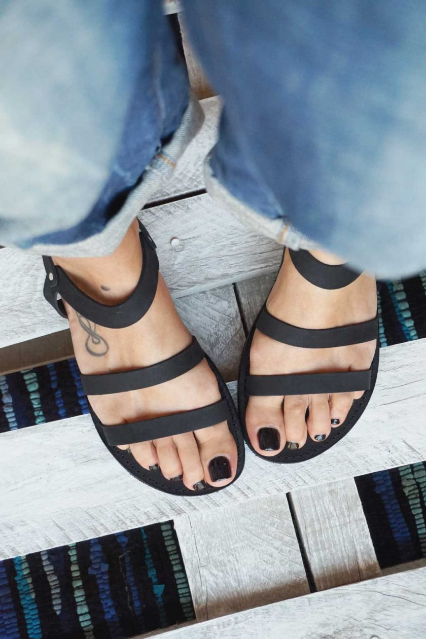 Płaskie sandały FUNKY CHIC, czarne