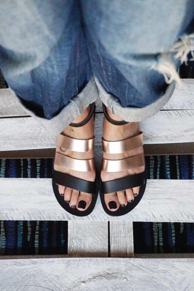 Płaskie sandały FUNKY MUM, brąz