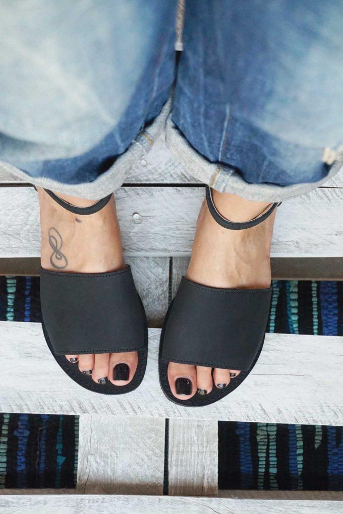 Sandały damskie FUNKY WOMAN, czarne