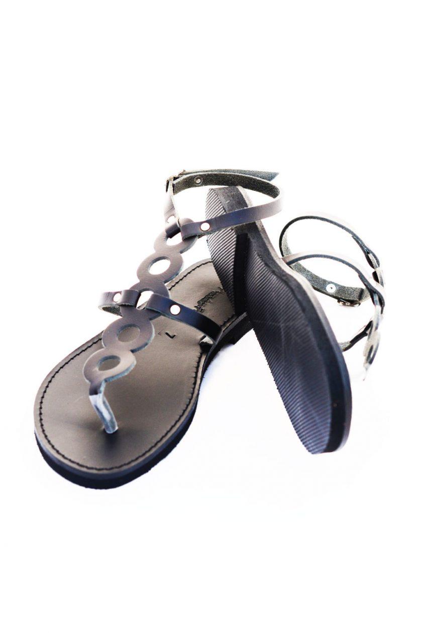 Sandały damskie ze skóry naturalnej FUNKY SOCIAL, czarne